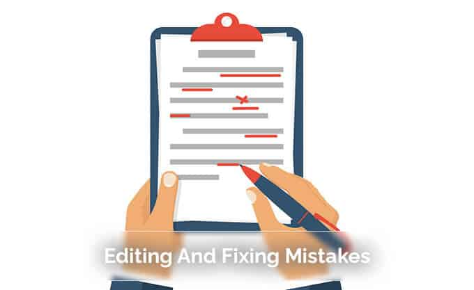 Editing And Fixing Mistakes