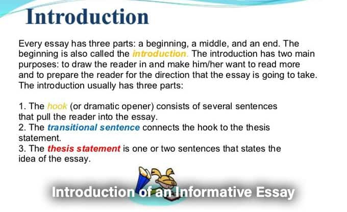 Introduction of an Informative Essay