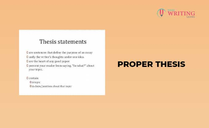 Proper Thesis